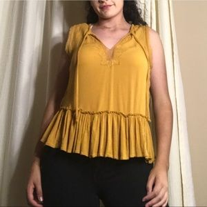 Yellow Flair Boho Top